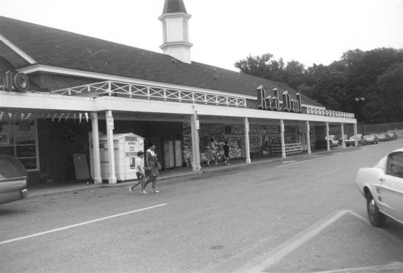 Heritage Square shopping area in Wayzata, circa 1970