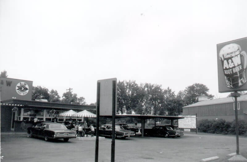 The A&W Root Beer stand was a popular destination for a generation of youths