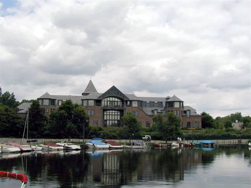 Financial offices overlooking the Wayzata lagoon