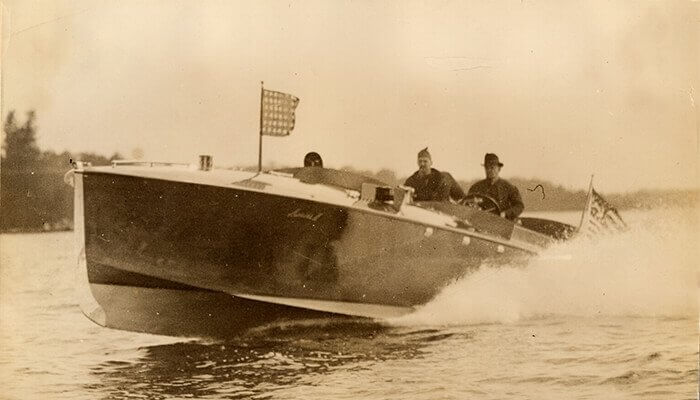 The Intruder, built by Ramaley Boat Company, 1916.